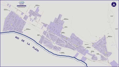 Mapa municipal de Ciudad del Plata